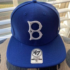Brooklyn Dodgers MLB 47 Brand Fitted Hat 7 1/2 New